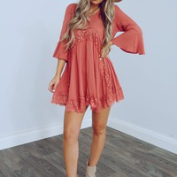 Lasting Moments Dress: Dusty Rose