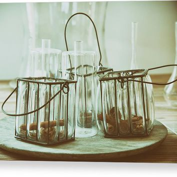 Still Life With Old Fashioned Jars Acrylic Print