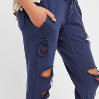 Free People Syde Destroyed Jogger
