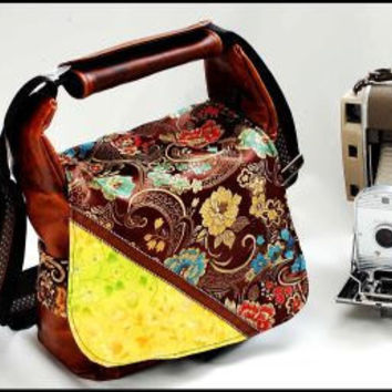 Gypsy inspired Bag for DSLR Camera travel Laptop by sizzlestrapz