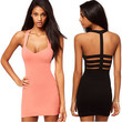 Womens Topshop Bodycon Party Strappy Fitted Club Sexy Summer Mini Hot LBD Dress