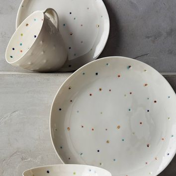 Confetti Dot Dinner Plate