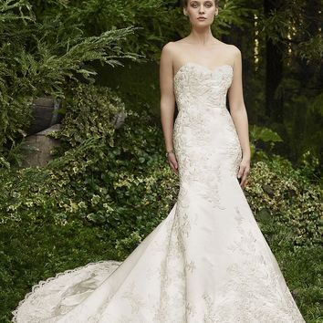 Casablanca Bridal Thistle 2257 Strapless Beaded Lace Fit & Flare Wedding Dress