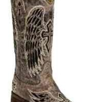 Corral Women's A1197 Wing And Cross Sequence Brown Fashion Boots 8 M