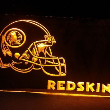 B-208 Washington Redskins Helmet beer bar pub club 3d signs LED Neon Light Sign man cave