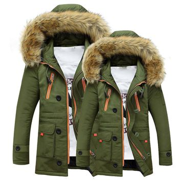 Unisex Warm Winter Hooded Fur Jacket