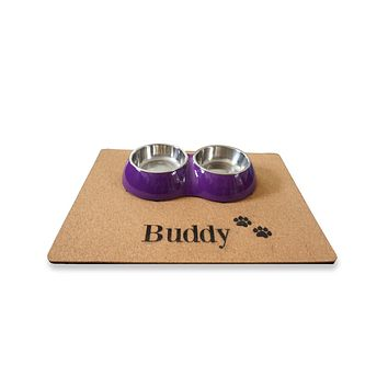 Custom Personalized Pet Dog Food Feeding Place Mat Unique Pet Supplies Food Solutions Gift