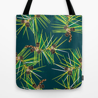 Perennial Needles Tote Bag by Raven Jumpo