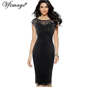 Womens Sequins Crochet Butterfly Lace Party Bodycon Evening Special Occasion Dress