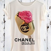 CHANEL ROSE ICE CREAM T-SHIRTS