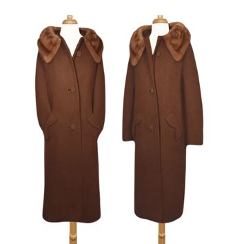 Women's Coat, Mink Coat, Vintage Coat, Long Coat, Formal Coat, Fashion Coat