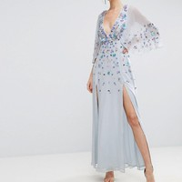 ASOS Embellished Kimono Maxi Dress at asos.com