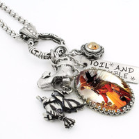The Walking Witch Charm Necklace
