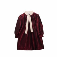 Senorita Lemoniez Burgundy Taffeta Dress