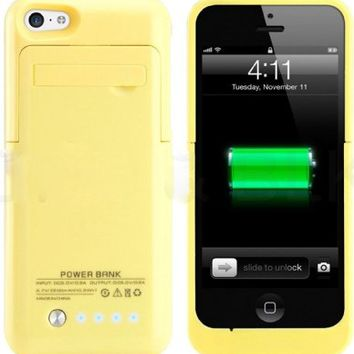 Kujian iPhone 5s Battery Case External Battery Power Bank with Kickstand  Holder for Apple iPhone 5 ac1b9ab82