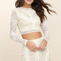 Verena White Lace Two-Piece Dress