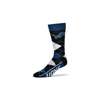 NFL Detroit Lions Argyle Unisex Crew Cut Socks - One Size Fits Most