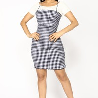 Back Roads Gingham Dress - Navy