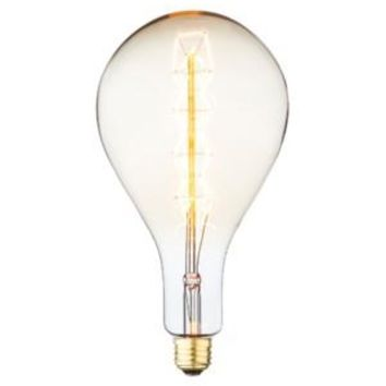 Ribbon Filament - Edison Antique Vintage Oversize Light Bulb - 1 Pack - Medium size - 60 wattage - E26 - 3000 hrs of life. 160 Lumens