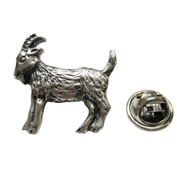 Textured Goat Lapel Pin