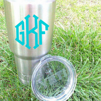 Diamond Monogram, Sticker for Yeti cup, Binder Stickers, Unisex monogram, Preppy monogram