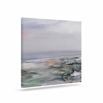 "Iris Lehnhardt ""Coastal Scenery"" Pastel Abstract Canvas Art"