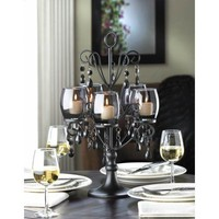 Black Midnight Elegance Candelabra