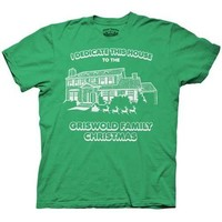 Christmas Vacation Dedicate This House Green Adult T-shirt