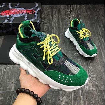 Versace Woman Men Fashion Chain Reaction Sneakers Shoes