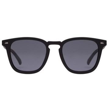 Le Specs - No Biggie Black  Sunglasses / Smoke Polarized Lenses