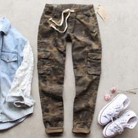 Sugar Falls Cargo Pants in Camo