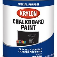 Krylon Chalkboard Paint Special Purpose Brush-On 29 oz. Quart Black