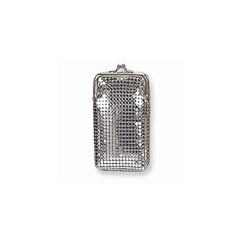 Silver-tone Sequin Cigarette Case