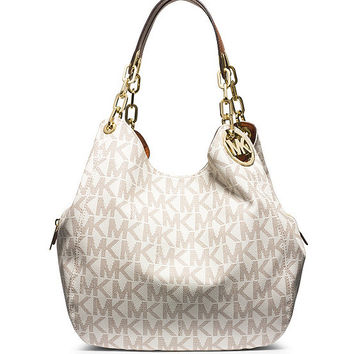 MICHAEL Michael Kors Fulton Signature Large Shoulder Bag | Dillards