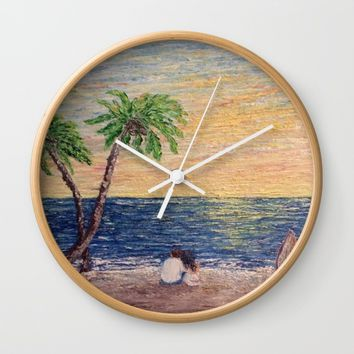 Oil Painting Print Wall Clock by Annette Forlenza