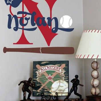 Baseball Name Decal Sports Wall For Boy Baby Nursery Or Boys Room 28