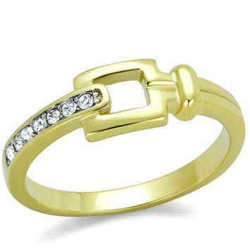 Kayleigh Gold Buckle Stone Trim Ring