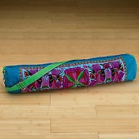 Embroidered Yoga Mat Carrying Bag