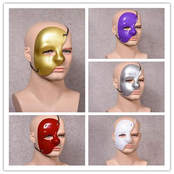 Phantom of the Opera stage show mask drama props plastic right half face one-eyed multicolor mask