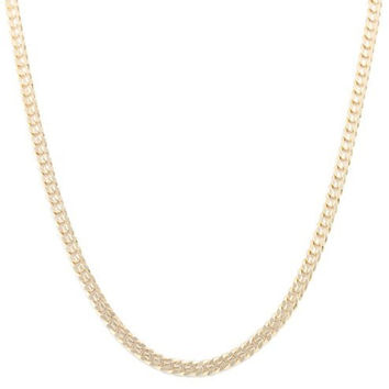 Goldtone 6mm 30 Inch Concave Cuban Chain Necklace