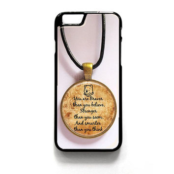 Winnie The Pooh Quotes iPhone 4 4S 5 5S 5C 6 6 Plus , iPod 4 5  , Samsung Galaxy S3 S4 S5 Note 3 Note 4 , and HTC One X M7 M8 Case