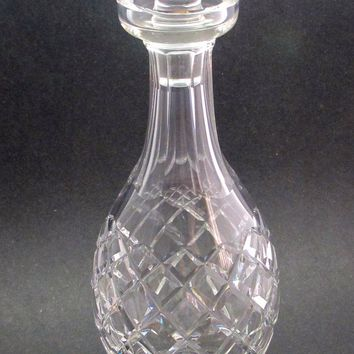 Signed Waterford cut glass Comeragh DECANTER