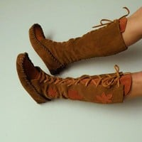 MADE FOR YOU Laceup moccasins by ravenmountain on Etsy