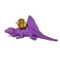 Up-cycled Dark Purple Edaphosaurus Dinosaur Planter