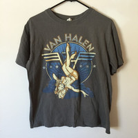 Vintage Van Halen T-shirt, Pin Up Girl T-Shirt, 80s shirt, Metal, Hair Metal, Grunge Shirt