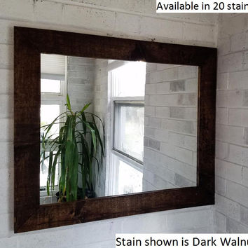 Shiplap Style Mirror / Vanity Mirror (Stained)