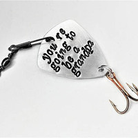 Grandpa fishing lure Pregnancy Announcement going to be a grandad gift for him custom fishing hook baby reveal personalized grandparents