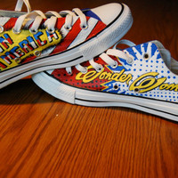 Custom Wonder Woman Captain America Converse