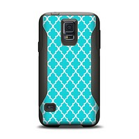 The Morocan Teal Pattern Samsung Galaxy S5 Otterbox Commuter Case Skin Set