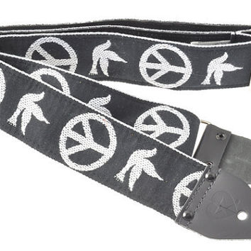 "Souldier ""Peace Dove"" Custom Handmade Vintage Guitar Strap used by Neil Young"
